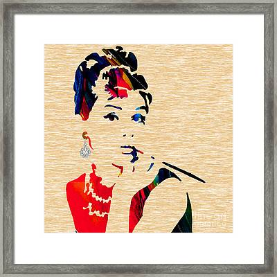 Audrey Helburn Collection Framed Print by Marvin Blaine