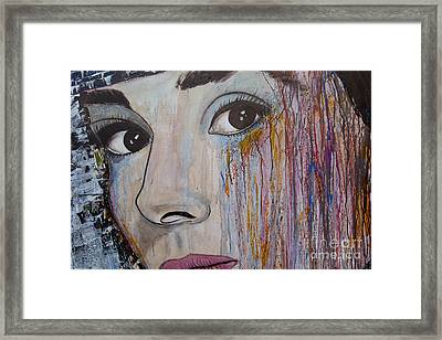 Audrey Hepburn-abstract 2 Framed Print by Ismeta Gruenwald