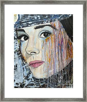 Audrey Hepburn-abstract Framed Print by Ismeta Gruenwald