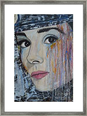 Audrey Hepburn - Abstract1 Framed Print by Ismeta Gruenwald