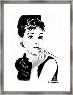 Audrey Hepburn Framed Print by Anna Androsovski