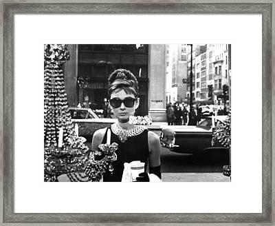 Audrey Hepburn Breakfast At Tiffany's Framed Print by Nomad Art