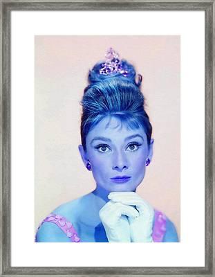 Audrey Hepburn In Breakfast At Tiffany's Framed Print by Art Cinema Gallery