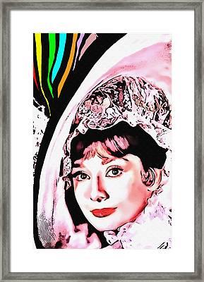 Audrey Hepburn In My Fair Lady Framed Print by Art Cinema Gallery