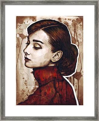 Audrey Hepburn Framed Print by Olga Shvartsur