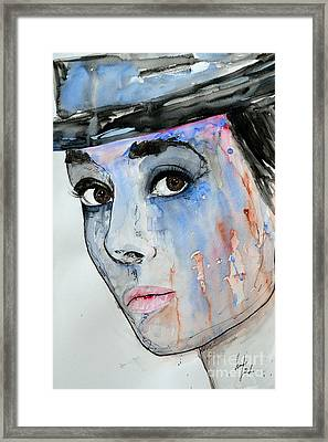 Audrey Hepburn - Painting Framed Print by Ismeta Gruenwald