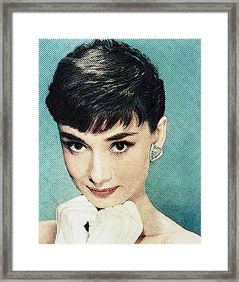 Audrey Hepburn Framed Print by Taylan Soyturk