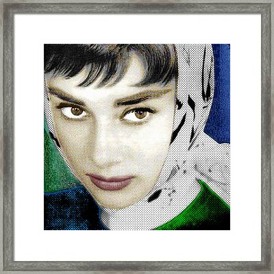 Audrey Hepburn Framed Print by Tony Rubino