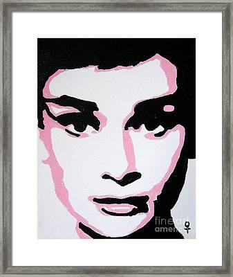 Audrey Hepburn Framed Print by Venus