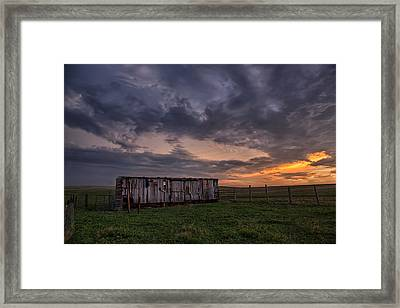 August Boxcar Framed Print by Thomas Zimmerman