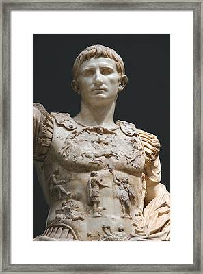 Augustus Prima Porta. Vatican Museums Framed Print by Bridgeman Images