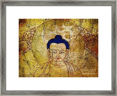 Aum Buddha Framed Print by Tim Gainey