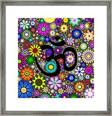 Aum Flowers Framed Print by Tim Gainey