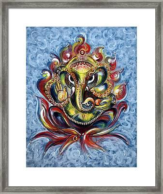 Aum Ganesha Framed Print by Harsh Malik