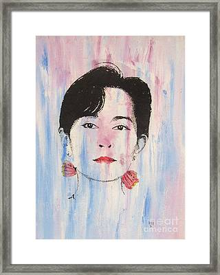 Aung San Suu Kyi Framed Print by Roberto Prusso