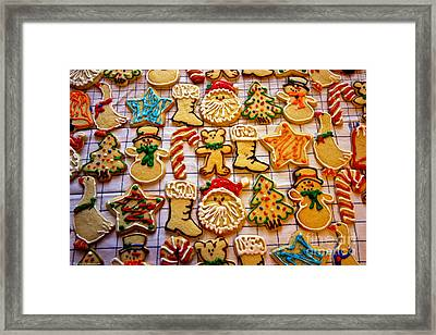 Aunt Tc's Christmas Cookies Framed Print by Mitch Shindelbower