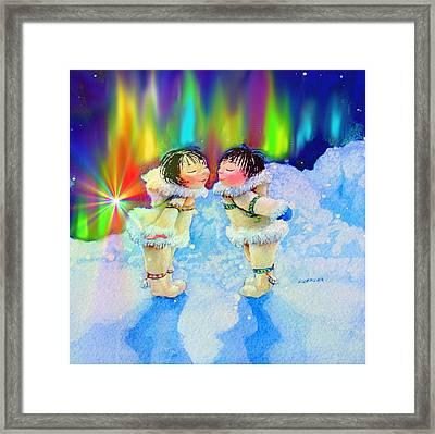 Aurora Kisses Framed Print by Hanne Lore Koehler