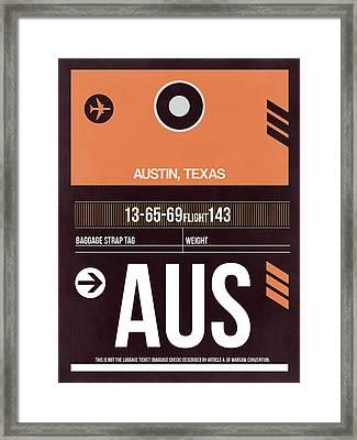 Austin Airport Poster 2 Framed Print by Naxart Studio