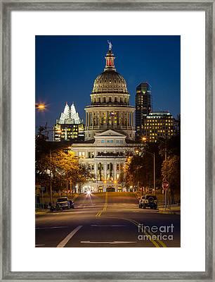 Austin Congress Avenue Framed Print by Inge Johnsson