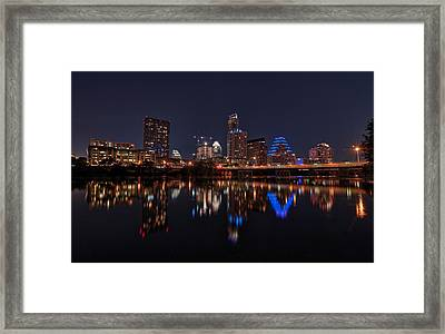 Austin Skyline At Night Framed Print by Todd Aaron
