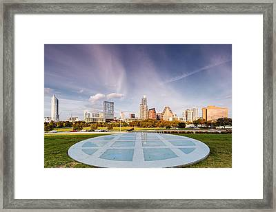 Austin Skyline From The Longs Center For The Performing Arts Framed Print by Silvio Ligutti