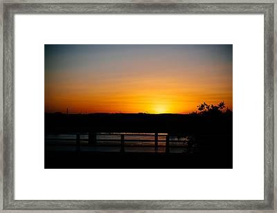 Austin Sunset Framed Print by Tony Boyajian