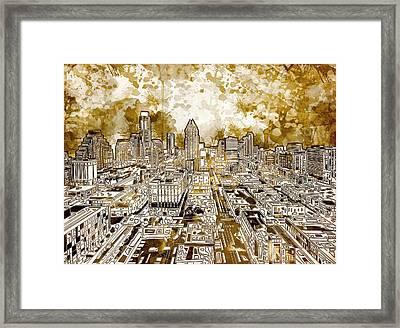Austin Texas Abstract Panorama 6 Framed Print by Bekim Art