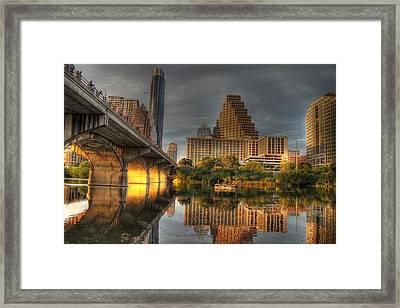 Austin Skyline Framed Print by Jane Linders