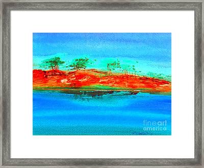 Australia Billabong 2 Intense Framed Print by Roberto Gagliardi