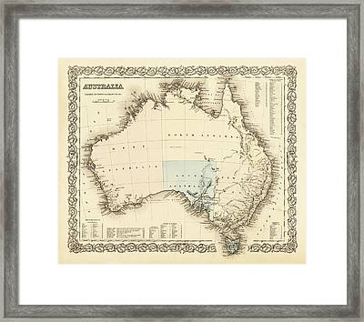 Australia C. 1850 Framed Print by Daniel Hagerman