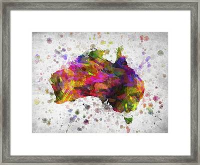 Australia In Color Framed Print by Aged Pixel
