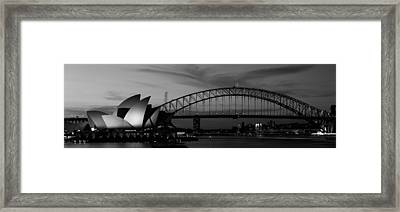 Australia, Sydney, Sunset Framed Print by Panoramic Images