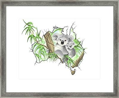 Australia Framed Print by Veronica Minozzi