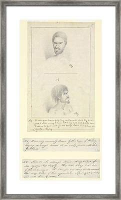 Australian Aborigines, 18th Century Framed Print by Natural History Museum, London