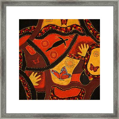 Australian Colours Framed Print by Susan McLean Gray