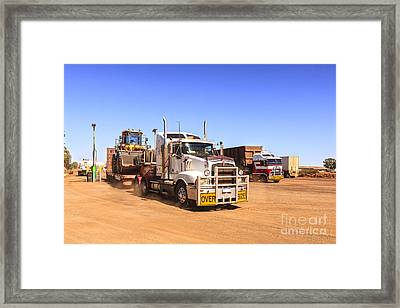 Australian Outback Truck Stop Framed Print by Colin and Linda McKie
