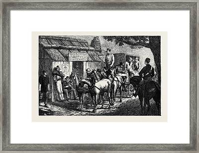 Australian Sketches On The Road Framed Print by Australian School
