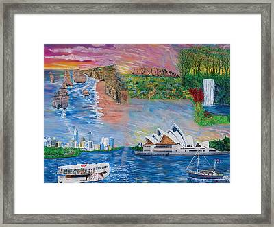 Australian Visitation Framed Print by Mike De Lorenzo
