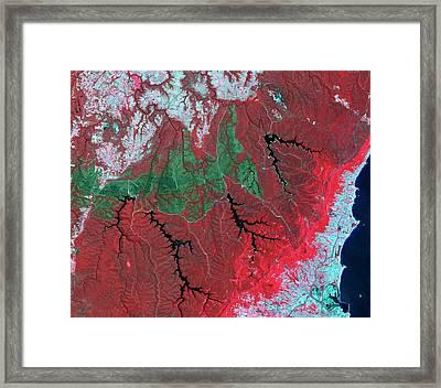 Australian Wildfire Scar Framed Print by Nasa/gsfc/meti/ersdac/jaros/us-japan Aster Science Team