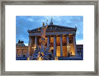 Austrian Parliament Building Framed Print by Mariola Bitner