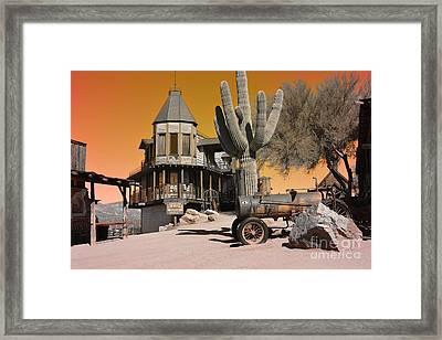 Authentic Ghost Town Framed Print by Beverly Guilliams