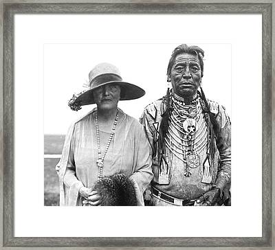 Author Mary Roberts Rhinehart Framed Print by Underwood Archives