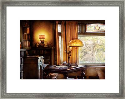 Author -  Style And Class Framed Print by Mike Savad