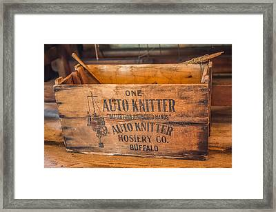 Auto Knitter Box Framed Print by Paul Freidlund