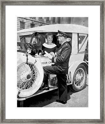 Auto Safety Check Framed Print by Underwood Archives
