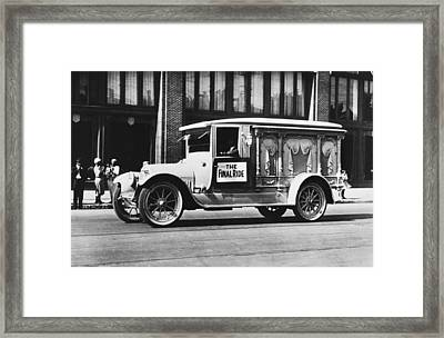 Auto Safety Parade Float Framed Print by Underwood Archives