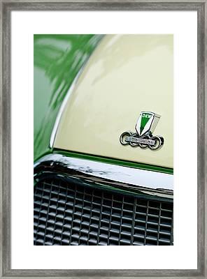 Auto Union Dkw Hood Emblem Framed Print by Jill Reger