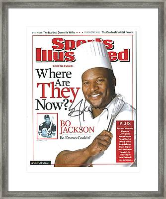 Autographed Sports Illustrated Cover By Bo Jackson Bo Knows Cookin' Framed Print by Desiderata Gallery