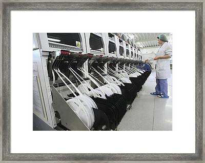 Automated Circuit Manufacture Framed Print by Science Photo Library