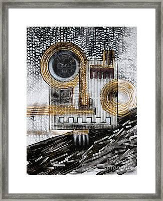 Automaton - Barbarism I. Framed Print by Szilvia Ponyiczki